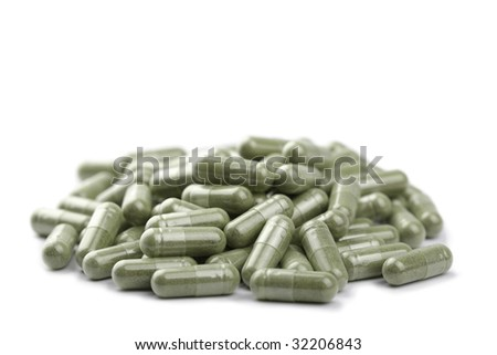 capsule pills isolated