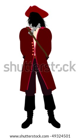 Captain hook illustration silhouette on a white background
