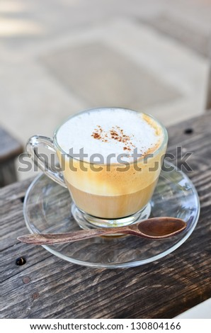 Capuccino coffee - stock photo