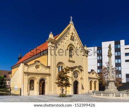 Capuchin Church in Bratislava - Slovakia - stock photo