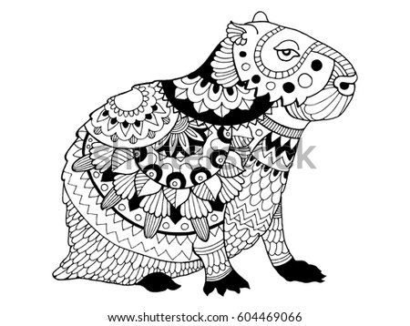 coloring pages capybara as pets - photo#45