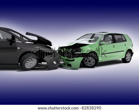 Car accident - stock photo
