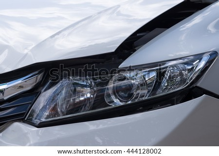 Car accident close up - stock photo