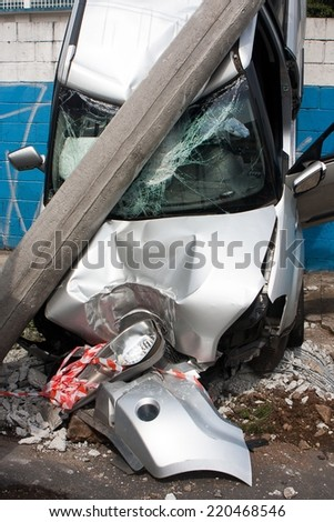 Car accident - Insurance - stock photo