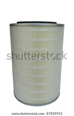 Car air filter size. - stock photo