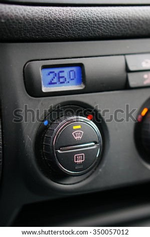Car airco showing temperature 26 degrees