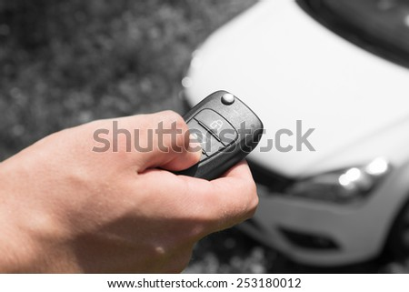 Car alarm, maintain your car security on the level. - stock photo