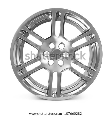 Car Alloy Rim isolated on white background