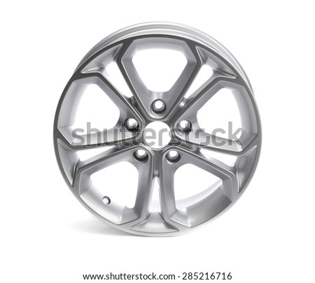 Car alloy wheel. Isolate on white.