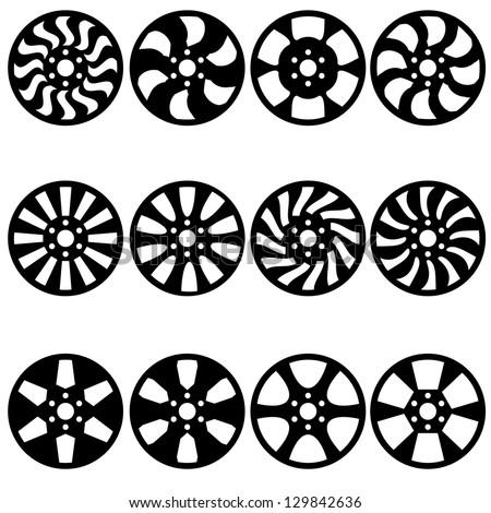 Car  alloy wheels,  illustration - stock photo