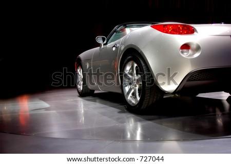 Car at auto show - stock photo