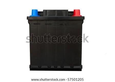 Car battery - isolated - stock photo