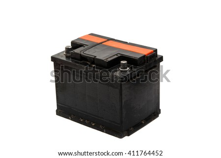 car battery isolated on a white background