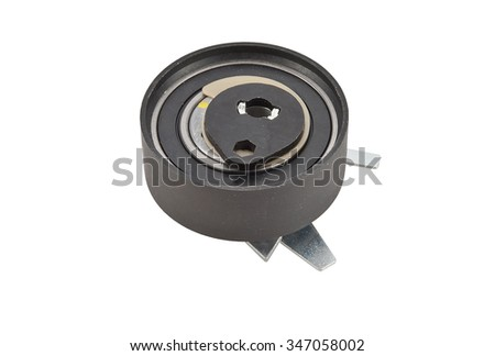 car belt tensioner on the white background