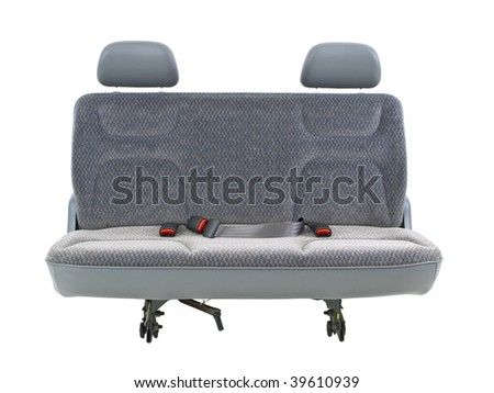 Car bench front view - stock photo