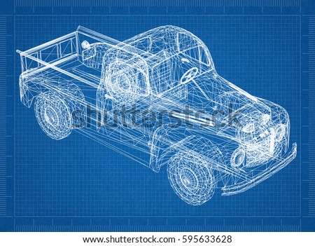 Car blueprint 3 d perspective stock illustration 595633628 car blueprint 3d perspective malvernweather Image collections