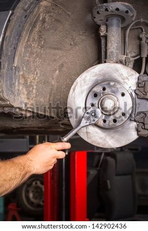 Car Brakes Change - stock photo