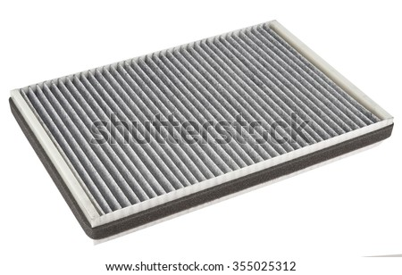 Car carbon filter isolate on white background