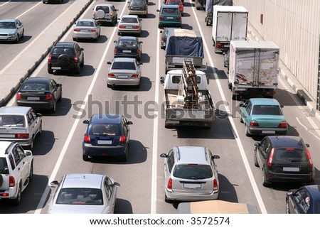 car city traffic - stock photo