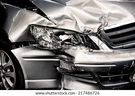 Car crash background - stock photo