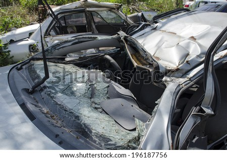 Car crash, car an accident - stock photo