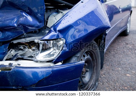 Car crash, insurance - stock photo