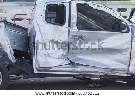 Car damage Caused by accidents