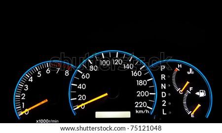 car dashboard close up - stock photo