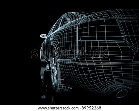 Car design - stock photo
