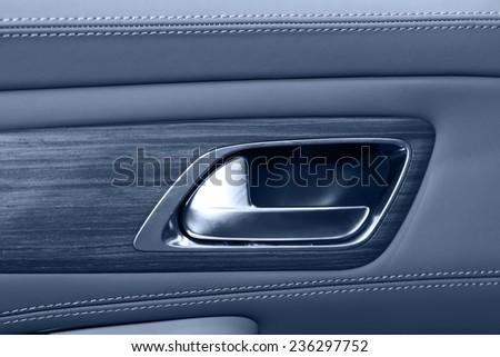 car door lock switch - stock photo