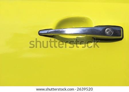 car door´s handle - stock photo
