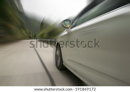 Car driving on the highway sky