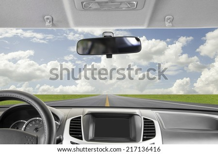Car, Driving to sky  - stock photo