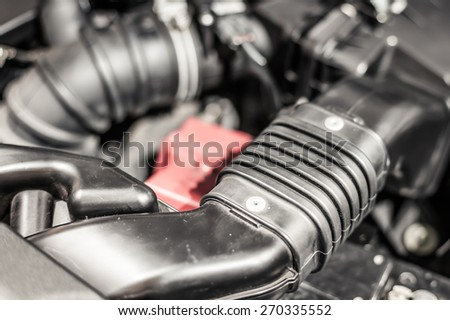 Car Engine closeup - stock photo