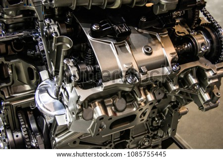Car Engine Components Stock Photo (Royalty Free) 1085755445 ...