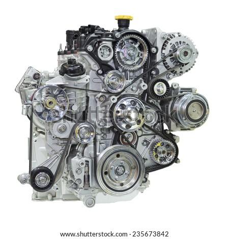Car engine. Concept of modern car engine  - stock photo