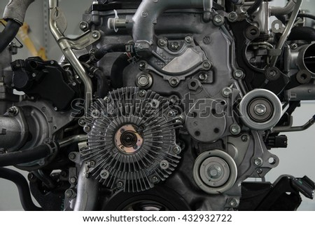 Car Engine - Modern powerful car engine - stock photo
