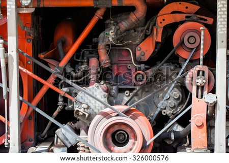 Car engine parts - stock photo