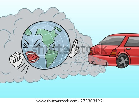 Car exhaust. Bitmap copy. - stock photo