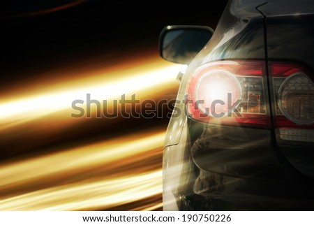 car fast drive - stock photo