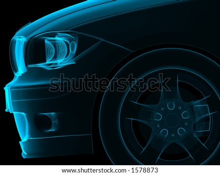 Car Front - Rengen Style - stock photo