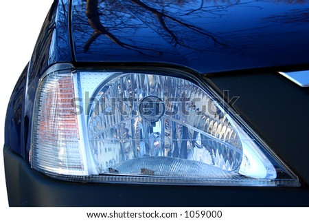 Car - Front side - Big beacon - stock photo