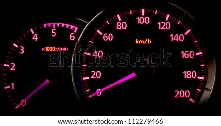 Car Gauge meter with pink back light