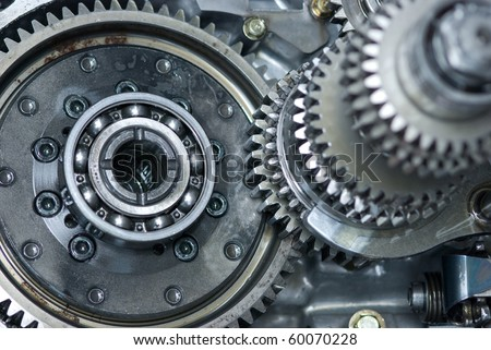 Car gearbox. Shallow depth of field with the background parts in focus. - stock photo