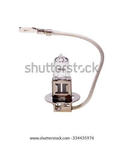 Car halogen bulb isolated on white background - stock photo