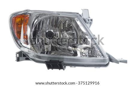 Car Head light isolated.  - stock photo
