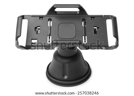 Car holder on white background