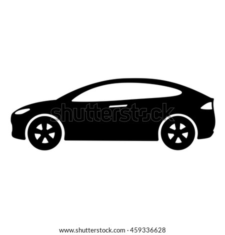 car icon side view car automobile stock illustration. Black Bedroom Furniture Sets. Home Design Ideas