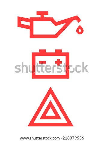 car icons - stock photo
