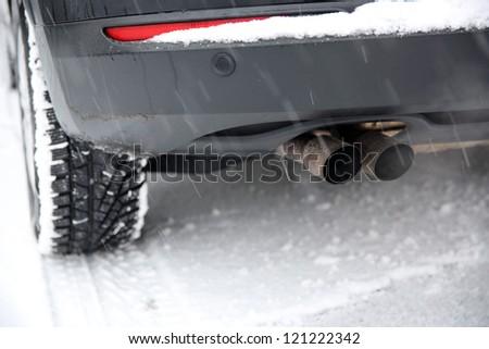 Car In Winter - stock photo